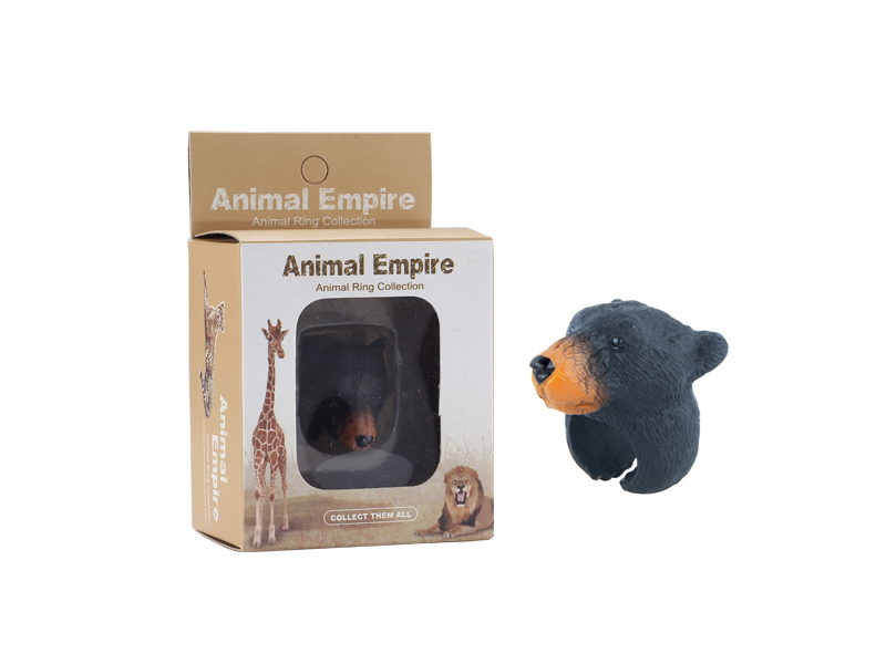 Brown bear ring toy animal ring toys zoo promotion toy for kids