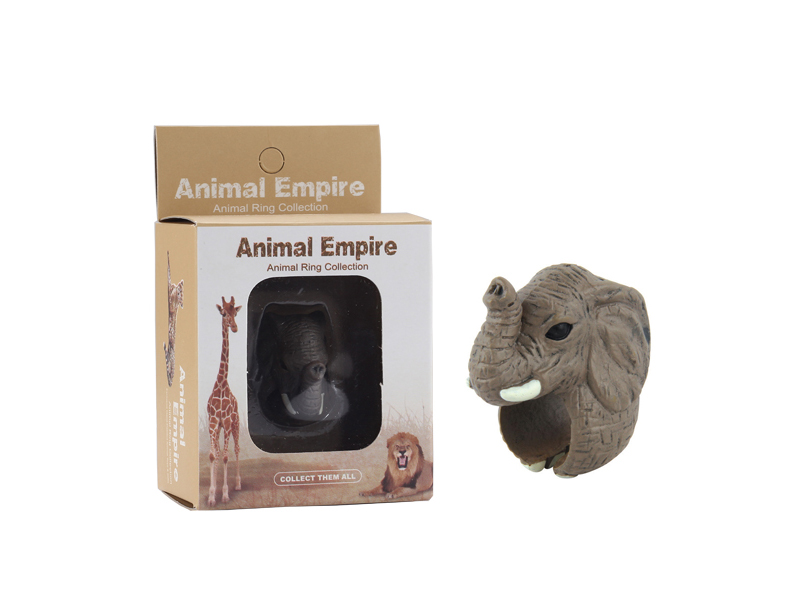 animal Elephant ring toy zoo promotion toy for kids
