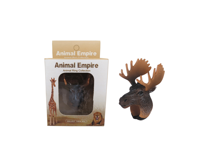 animal Moose ring toy zoo promotion toy for kids