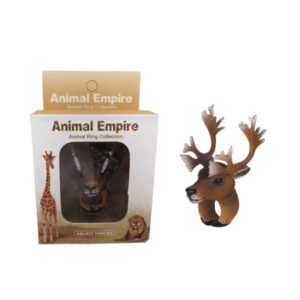 Reindeer ring toy animal ring toys zoo promotion toy for kids