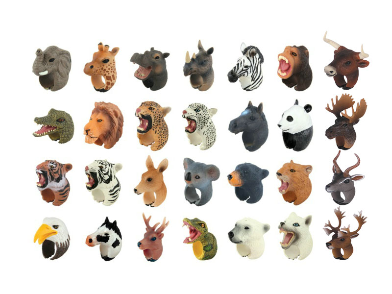 Assorted animal toy children ring toy finger ring toy