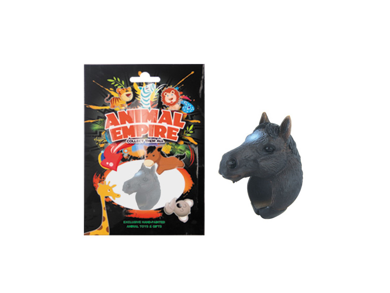 Horse ring toy plastic ring toy simulation animal gift