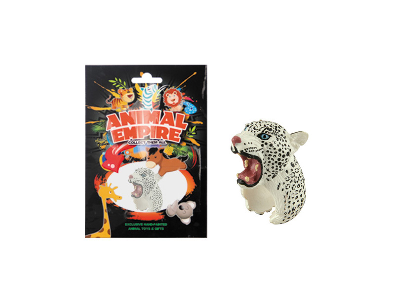 Snow leopard ring toy plastic ring toy simulation animal gift