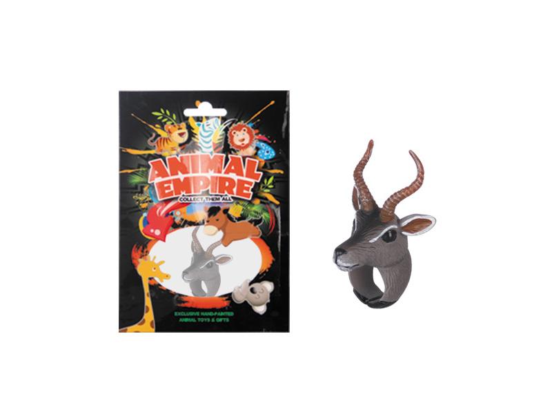 Antelope ring toy plastic ring toy simulation animal gift