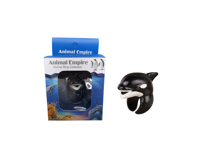 Killer whale toy ring aqcuarium toy marine animals toys