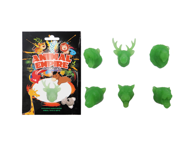 Glow in dark magnet luminous magnet animal promotional toys