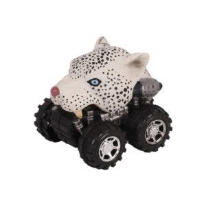 Animal Car Snow leopard animal car toy friction animal vehicles