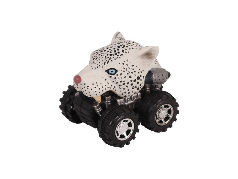 Animal Car Snow leopard animal car toy friction animal vehicles