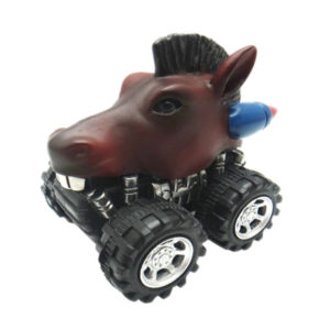 Pull back horse toy car plastic animal