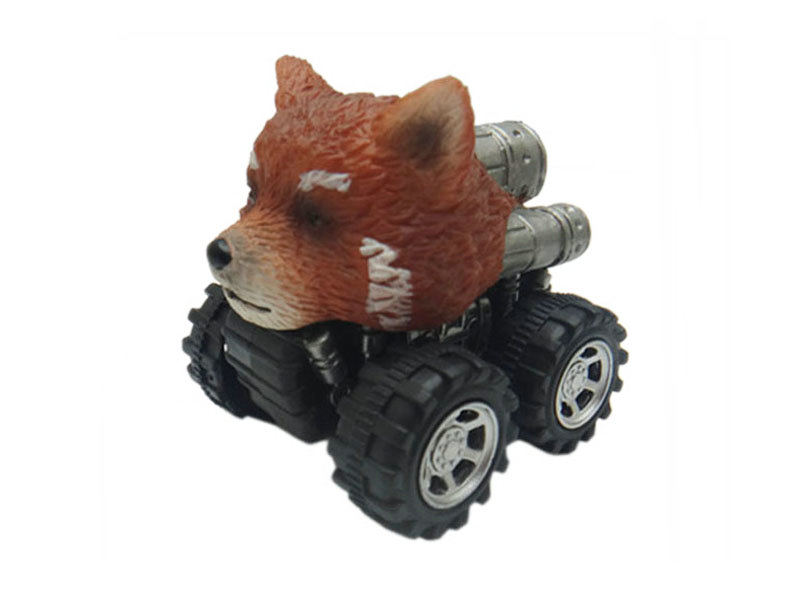 red panda toy pull back car plastic toys