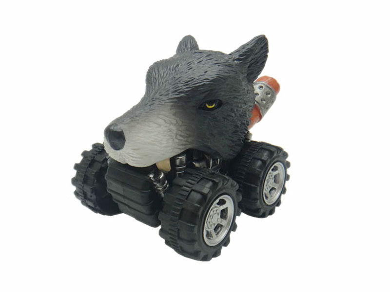 wolf toy pull back car plastic toys
