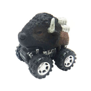 American bison toy animal head car plastic toys