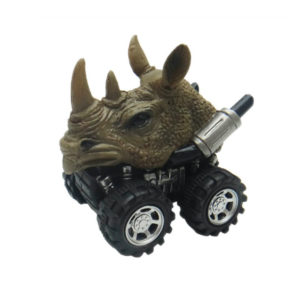 pull back rhino animal car toy friciton animal