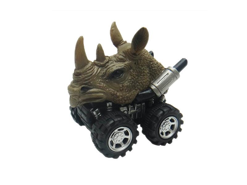 pull back rhino animal car toy friciton animal