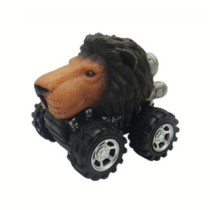pull back lion animal car toy friciton animal