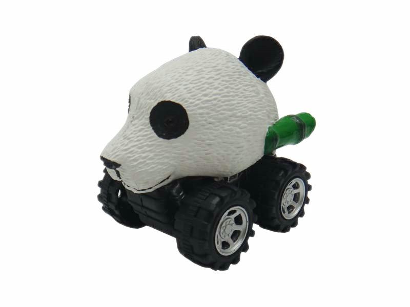 Panda toy animal head car plastic toys