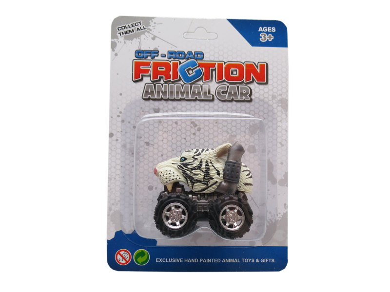 Friction animal car tiger head truck pull back animal vehicles