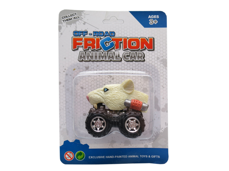 Animal toy white lion head truck pull back animal vehicles