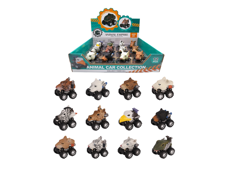 Wild animal car animal car toy zoo toy vehicles set