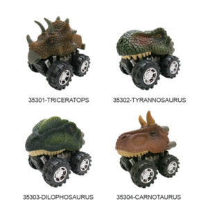 Dinosaur car toy pull back truck toy friction animal vehicles.
