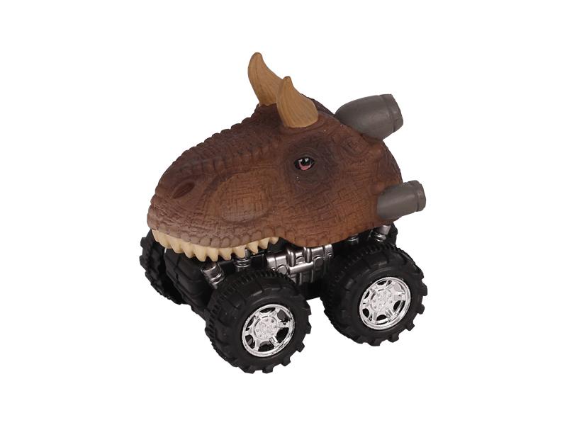 Dinosaur toy car dinosaur head toy pull back dino truck