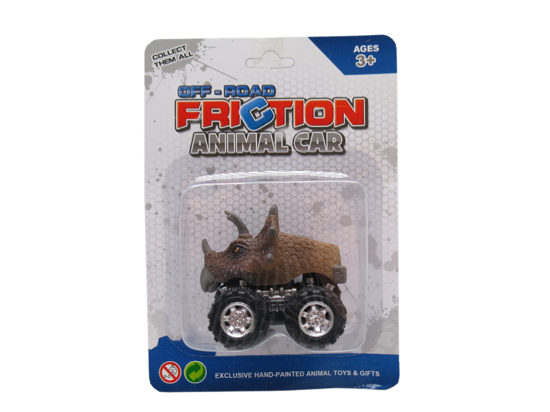 Triceratops car toy Dino car toy friction pull back truck toys