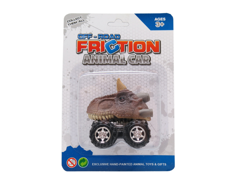 Dino car toy carnotaurus toy friction pull back truck toys