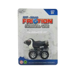 friction penguin toy animal car toys pull back animal toy