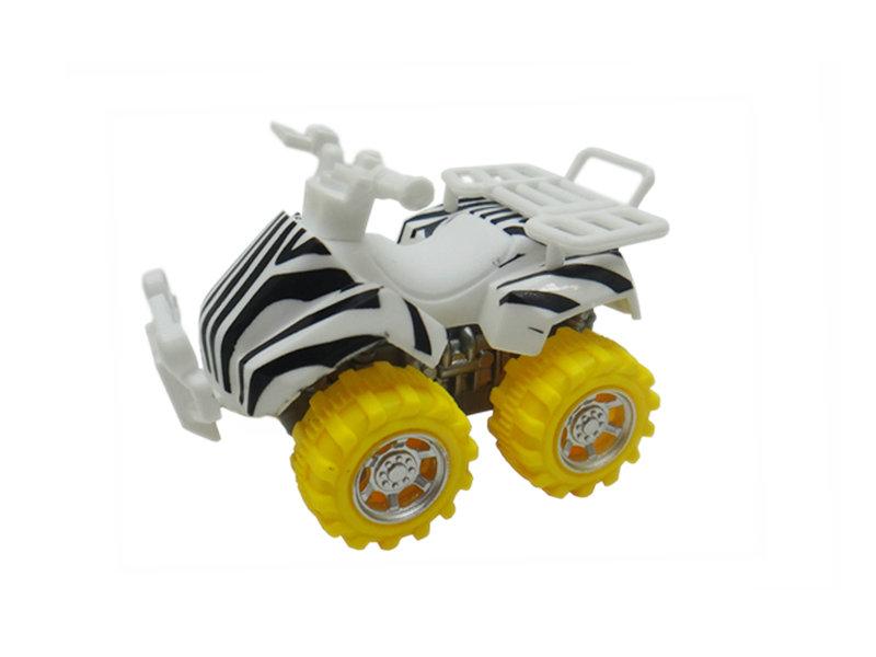 zebra motorcycle toy beach ATV animal skin car