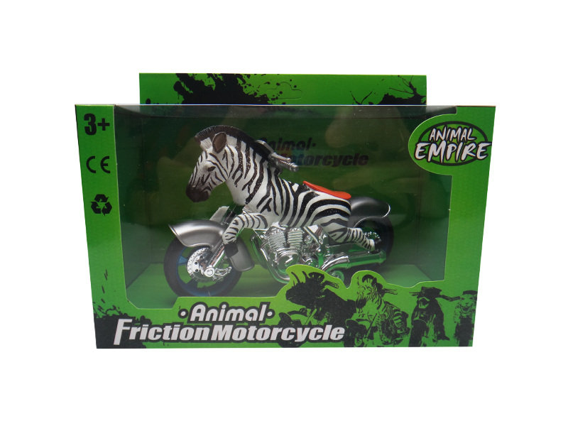 Friction motorcycle toy animal motorcycle zebra toy motorcycle