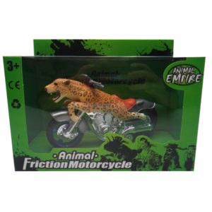 Friction motorcycle toy animal motorcycle leopard toy motorcycle