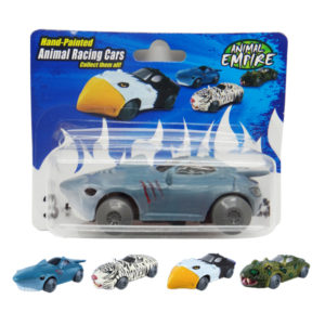 Friction shark toy friction power car animal racing sports car