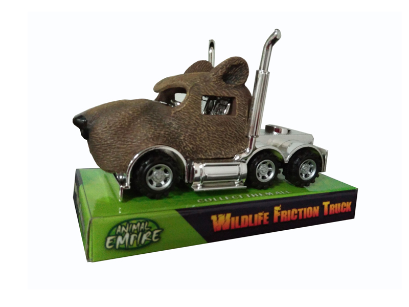 Brown bear truck toy friction truck toy animals