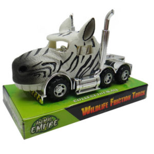 Zebra truck toy friction power vehicle toy animals