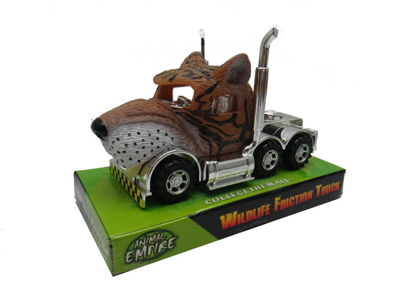 Tiger truck toy friction power vehicle toy animals