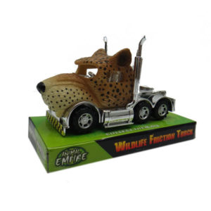 Leopard truck toy friction truck toy animal
