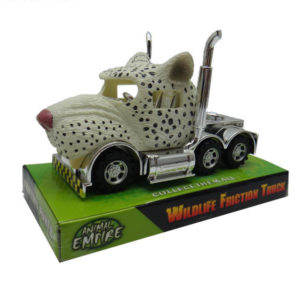 Snow leopard truck toy friction truck toy animal