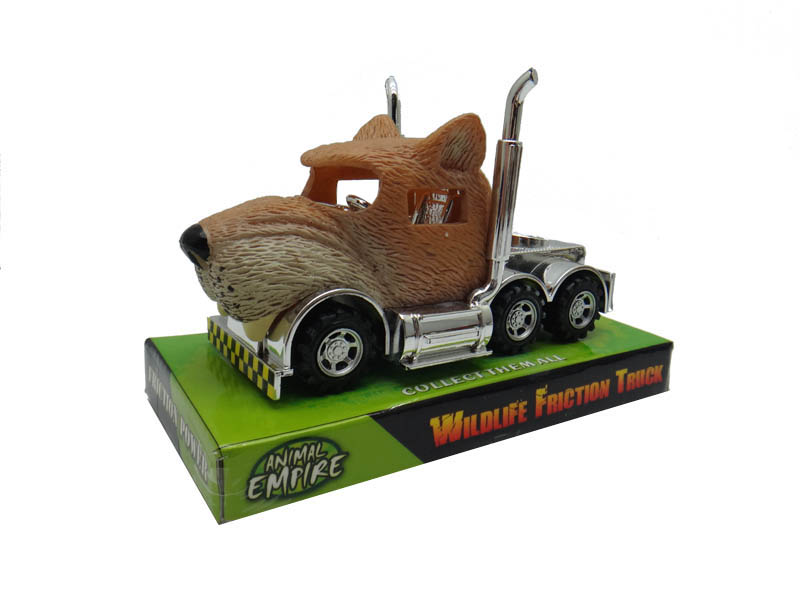 Cougar truck toy friction truck toy animal