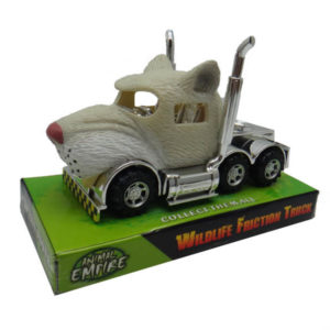 White lion truck toy friction truck toy animal