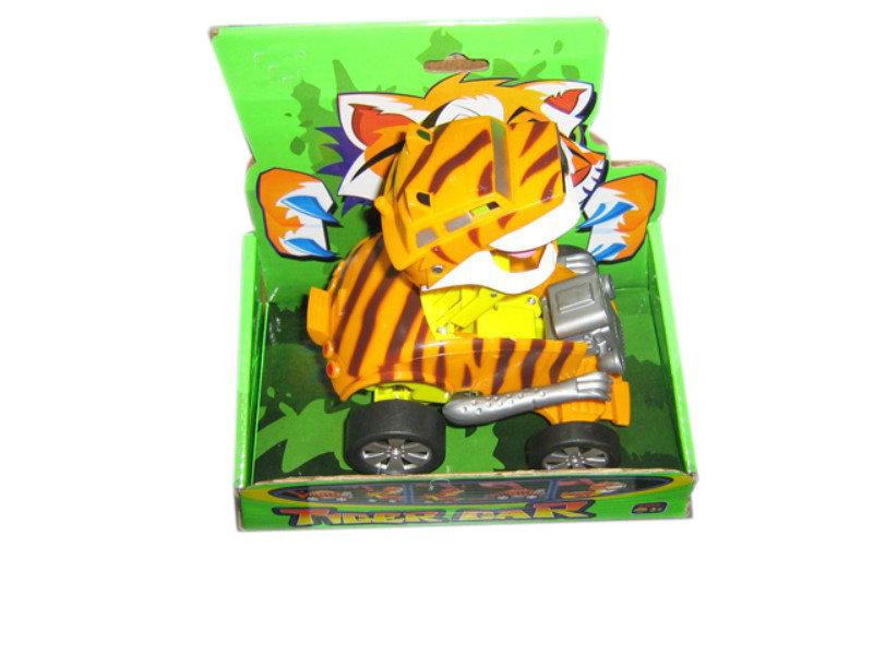 Tiger transform toy car freewheel toy