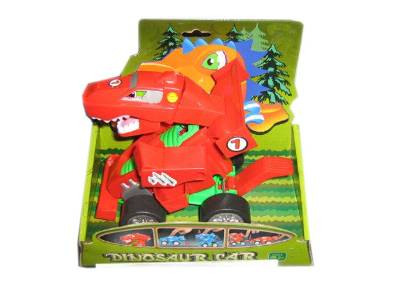 Transform toy freewheel toy dinosaur car toy
