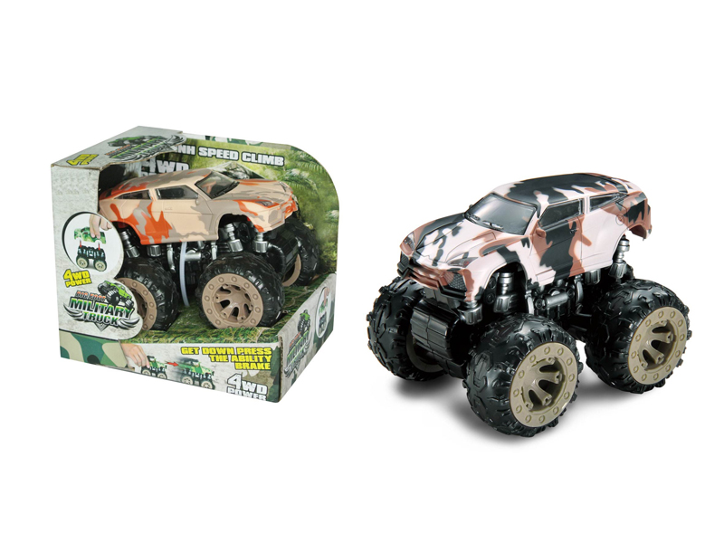 Monster truck vehicle toy friction power car