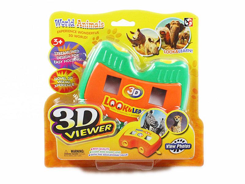 Time machine viewer toy wild animals