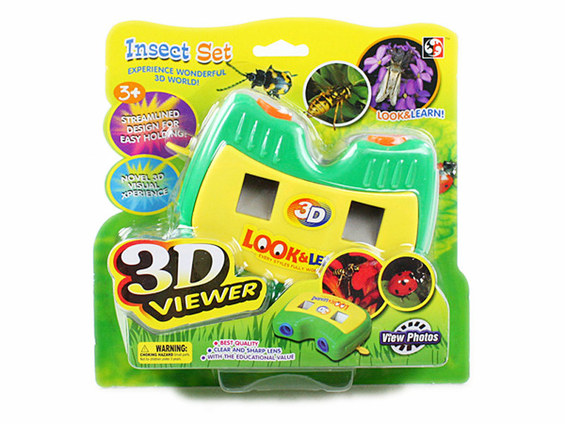 View camera insect world 3D viewer toy
