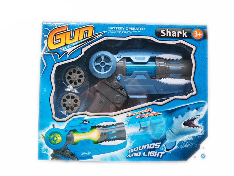Shark projection toy gun toy animal toy