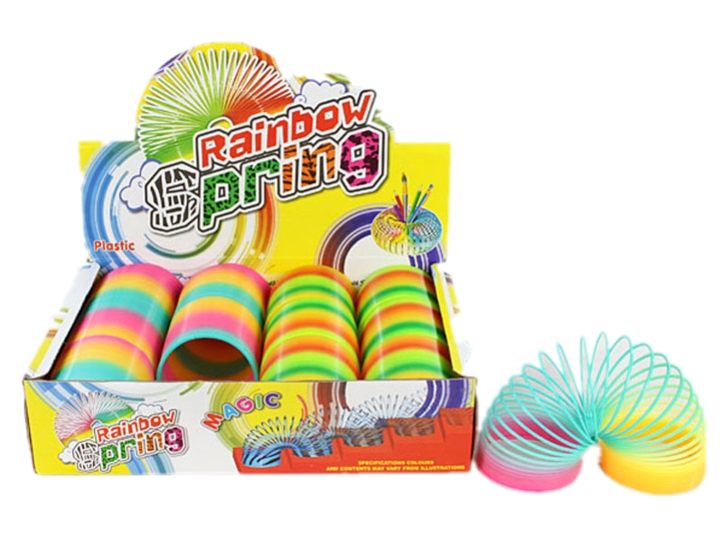 Rainbow spring toy colorful rainbow spring toy promotion toy