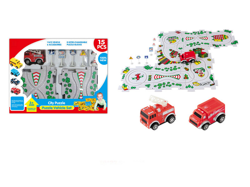 Vehicle toy puzzle track car B/O toy