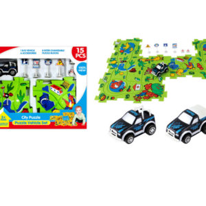 B/O vehicle puzzle block track car toy