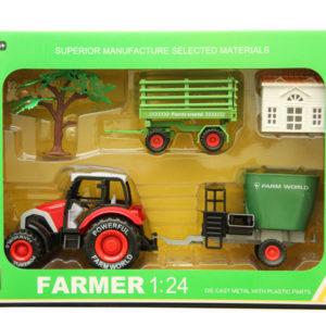 Diecast toy farmer set car toy