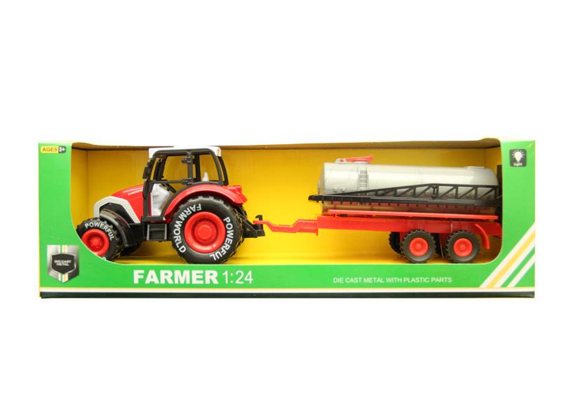 Pull back car metal toy farmer car for children